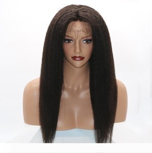 Kinky Straight 360 Lace Frontal Wigs 130% Density Full Lace Human Hair Wigs For Black Women Brazilian Hair Italian Yaki Lace Front Wigs