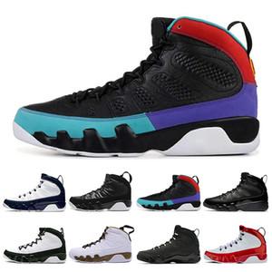 9 9s los zapatos de baloncesto del Mens Sóñelo Do It Racer Gema Azul Rojo OG espacio atasco por tamaño de las zapatillas de deporte Atletismo Deportes 7-13