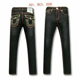 HOT Robins homens heterossexuais t jeans clássico Calças com asas da bandeira americana Jean Robin Jeans para homens Fried Neve Jeans strass r 30-40