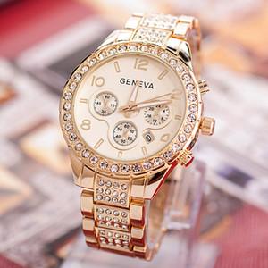 Clásica de lujo del Rhinestone mujeres del reloj de los relojes de manera del reloj de señoras Relojes Reloj Reloj Relogio Femenino Mujer vestido A40 de la Mujer