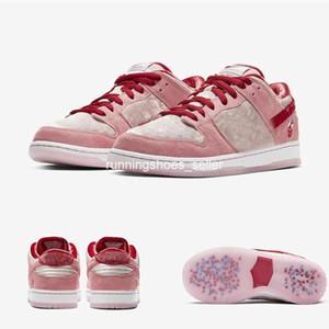 2020 StrangeLove x Nike SB Dunk Low PRO para mujer para hombre de los zapatos corrientes QS designeres de calidad superior Melón rosa zapatillas de deporte CT2552-800 EUR36-45