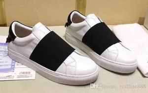 5A Women URBAN STREET ELASTIC STRAP SNEAKERS Calfskin LEATHER,wide elastic band,Size 35-44 Free Shipping
