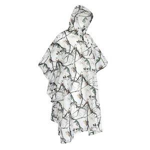 Outdoor Raincoat campeggio impermeabile impermeabile neve Camo pioggia Poncho Giacca con cappuccio Poncho impermeabile mimetico Raincoat