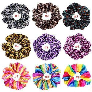 donne corda colorata arcobaleno Leopard elastica dei capelli Scrunchie Glittergirls accessori per capelli delle ragazze delle donne Ponytail Copricapo
