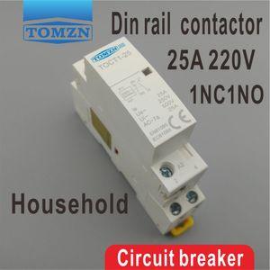 Поставки электрооборудования контакторы CT1 2P 25A 1NC 1NO 220V / 230V 50/60 Гц Din-рейка бытовой модульный контактор переменного тока