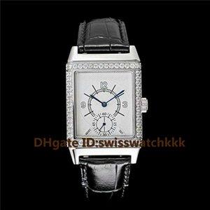Nouvelles montres Q2788520 Swiss Automatic 21600VPH Cristal de saphir Lunette Sertie de Diamants 316L Acier Bracelet Cuir de vachette fond transparent Retour Montre Homme