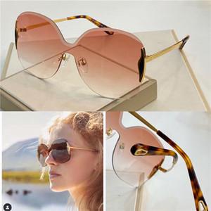 موضة جديدة مصمم إمرأة نظارات شمس 162 غير النظامية كريستال قص عدسة بدون إطار الطلائع الشعبية UV400 لون الضوء الديكور نظارات