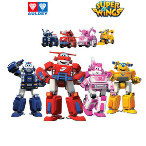AULDEY super ailes Q version Mini Transforming Carriers 5cm Deformed Robots Aircraft Sets Jett Donnie Dizzy Paul Jerome Astra 06 Jouets