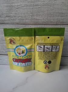Un nouvel emballage de citron CHERRY GELATO Sac citron CHERRY GELATO 3.5 zip lock poche mylar preuve enfant étanche à l'air pour herbe sèche