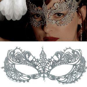 1pc partito del merletto Led Maschera del fronte mezzo finisce il disegno Aumento Drill sexy d'argento Masquerade Mask Helloween Maske partito Consegnato