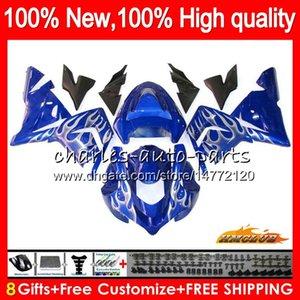 Body For KAWASAKI silver flames ZX-10R ZX 1000 CC ZX 10 R 04 05 Bodywork 43HC.103 ZX1000CC 1000CC ZX 10R ZX10R 04 05 2004 2005 Full Fairings