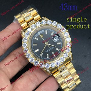 1 Color.Best Qualitäts-volle Big-Diamant-Uhr Goldmann-Tag Datum Gold 18K 2813 Automatische 43mm Wasserdichte Edelstahl Luxusuhren