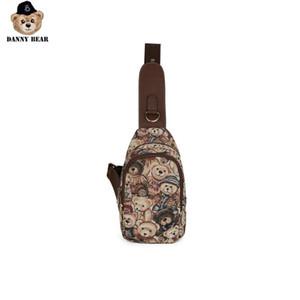 Danny Series Bear Peito Bag Moda Viagem Zipper Shoulder Bag para as Mulheres Homens DMB7115028