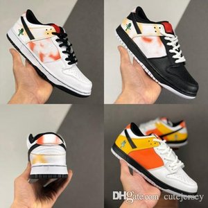 2020 New Mens Running Shoes SB Dunk Low Raygun Runner Tie Dye Black White Womens Sport Sneakers Trainers des Chaussures Zapatos Size 36-45