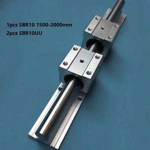 1 pz SBR10 1500mm / 1600mm / 1700mm / 1800mm / 1900mm / 2000mm guida di supporto guida lineare + 2 pz SBR10UU blocchi di cuscinetti lineari per router di cnc