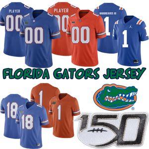 Custom Florida Gators Vernon Hargreaves 4 Kadarius Toney 13 Franks 81 Jerseys de fútbol universitario Aaron Hernandez