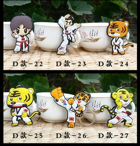 50pcs lot) wholesale keychains taekwondo supplies cartoon sport gifts for kids Boxing Ring