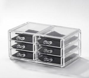Acrílico Plástico Cosméticos Joyero Caja de almacenamiento Escritorio Maquillaje transparente Lápiz labial Estuche 8 Estilos Organizador de maquillaje