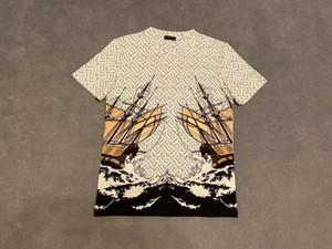 20ss mens magliette tee lettere parigi fiori onde si infrangono totem stampare vestiti camicie a maniche corte Donne Uomini vera New