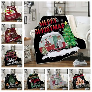 Adult 3D Christmas Blankets Double heavy blanket Winter Blankets Swaddling Bedding Xmas Home Textiles 150*200cm T2I51478