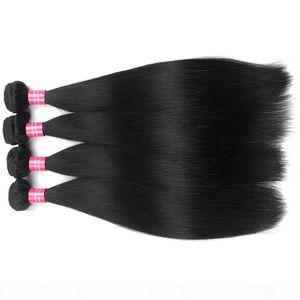 L Brazilian Straight Hair Bundles 1b Or 2 Or 4 Color Can Buy Straight Virgin Human Hair Extension 100 %Human Hair Bundles Non Remy