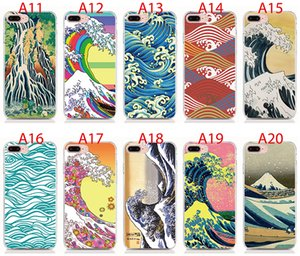 For Samsung Galaxy A30 A70 A50 A40 A2 Core Note 9 8 7 5 4 case Soft TPU Print pattern Cartoon Wave Art Japanese High quality phone cases