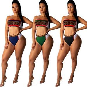 costumi da bagno bikini sexy delle 2 parti di abbigliamento estivo set di marca Donne pannelli Reggiseno imbottito costume da bagno costume da bagno spiaggia modo più il formato libero 2727