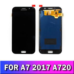 Samsung Galaxy A7 2017 A720 A720F siyah beyaz altın TFT ekran parlaklığı ayarlamak için Orjinal LCD Dokunmatik Ekran Sayısallaştırıcı Değiştirme