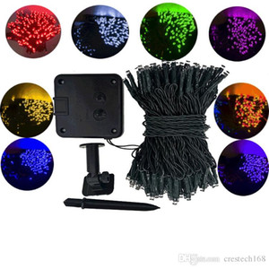 8 Modes LED Extérieure Solaire Lampe jeu de lumières 50/100/200 Led Solaire Guirlandes de vacances de Noël Partie Guirlande Jardin Éclairage