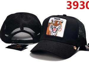 Cappello estivo camionista con tigre lupo animale ricamo Cap per adulti Mens Womens regolabile Curved berretto da baseball di lusso Designer Sun Visor cappello