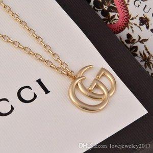 venda quente jóias luxo mulheres Letter G colar desenhador Pendant versão high-end cadeia elegante do ouro para homens colares estilo de moda jovem
