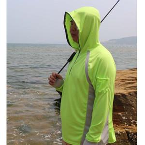 Gli uomini di pesca shirt anti UV Abbigliamento Sun Protection Hoody Pullover Quick Dry Traspirante pesca maglione veste un'escursione scalata Camicia
