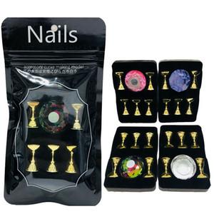 Mostrando magnética Shelf Acrílico Crystal Display suporte Falso Nail Art Practice Training Tips Titular Manicure Ferramenta Salon