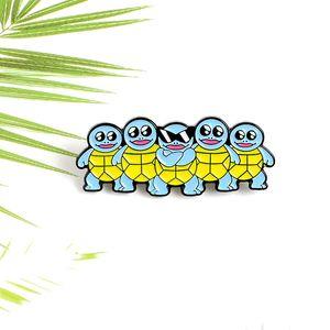 Azul Tortoise esmalte pino fresco Sunglasses Tortoise Broche Roupa Backpack lapela Pins personalizado animal presente emblema de Amigos Crianças