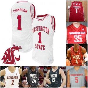 Personalizzato Stato di Washington Cougars WSU Jersey di pallacanestro NCAA College Thompson CJ Elleby Isaac Bonton Jeff Pollard Tony Miller