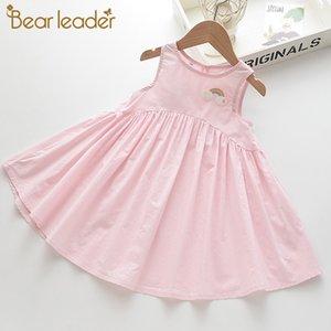 Bear Leader Kids Girl Rainbow Dresses New Summer Sweet Girls Party Costumes Casual Cartoon Children Girl Dress Lovely Vestido