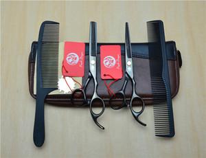 Top qualité 4pcs cheveux Scissor / Sacs taille Paquet Pouch Holder Outils de coiffure en cuir Ciseaux Ciseaux cheveux Ciseaux Wallet Pouch