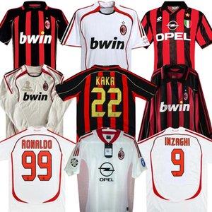 Lange Hülse 90 91 Retro Shirts 02 03 96 97 Gullit SOCCER JERSEY 1991 Maldini BAGGIO Van Basten Fußball RONALDO KAKA Inzaghi 06 07 AC MILAN