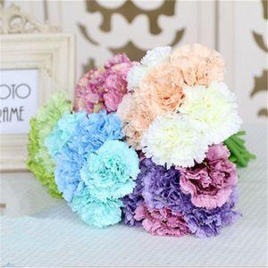 Искусственный гвоздика букет Корейский эмуляция букет невесты проведение букет Матери сюжет подарок Свадебные украшения цветок T9I00378