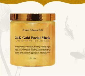 Facciale Maschera di Grystal dell'oro del collageno donna 24K collagene Peel Off mascherina facciale della pelle del fronte idratante rassodante.