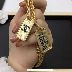 luxo designer de jóias mulheres Colar de ouro duplo cão colares Tag pingente de alta qualidade brincos high-end hip hop e ternos colar