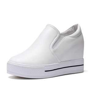 White Shoes Woman Sneakers Wedges Height Increasing Womens Trainers Women Casual Platform Shoes Fashion High Heels Zapatos Mujer Plataforma