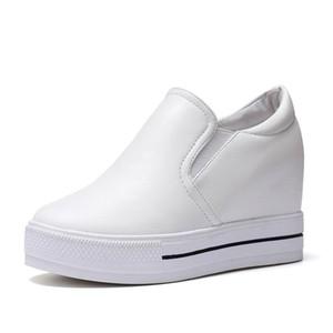 흰색 신발 여성 운동화 웨지 높이 증가 여성 트레이너 여성 캐주얼 플랫폼 신발 패션 하이힐 Zapatos Mujer Plataforma