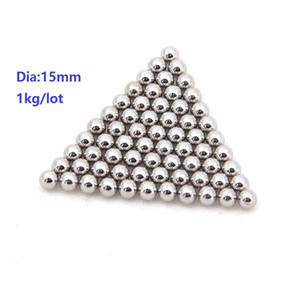 1kg lot (about 72pcs) steel ball Dia 15mm high-carbon steel balls bearing precision G100 Diameter 15mm Free shipping