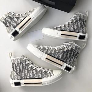 디올대화 옴므 경 X KAWS으로 킴 존스 (Kim Jones) 카니 스니커즈 높은 바구니 chaussure 기술 캔버스 신발 농구 신발 36-45