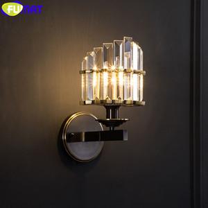 Forma Fumat cristal K9 Crown Wall Lamp América Retro Criativo O Coliseu romano Luz Copper Quadro Home Decor Lighting