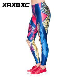 D1856 Donne Pant Triane Geometria Colorful Stampa Push Up Slim Tights fitness donne jogging Palestra pantaloni di yoga Femme Sport Leggings