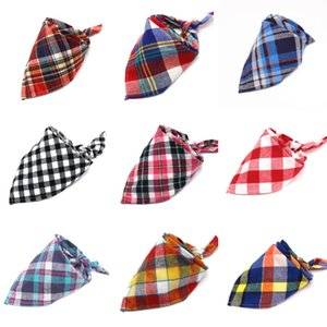 30 Styles New Fashion Scotland Style Baby Children Plaid Cotton Triangular Bandage Towel Bib Kids Burp Cloths Free Shipping