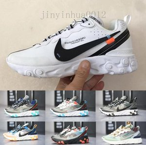 React Element 87 Undercover Men Running Shoes For Women Sneakers Sports Mens Trainer Shoes Sail Light Bone Royal Tint YPD55