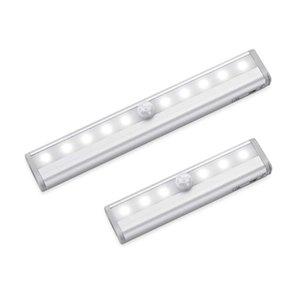 Led Under Cabinet Light Motion Sensor Lamp 6  10 Leds 98  190mm Lighting For Wardrobe Cupboard Closet Kitchen Night Light